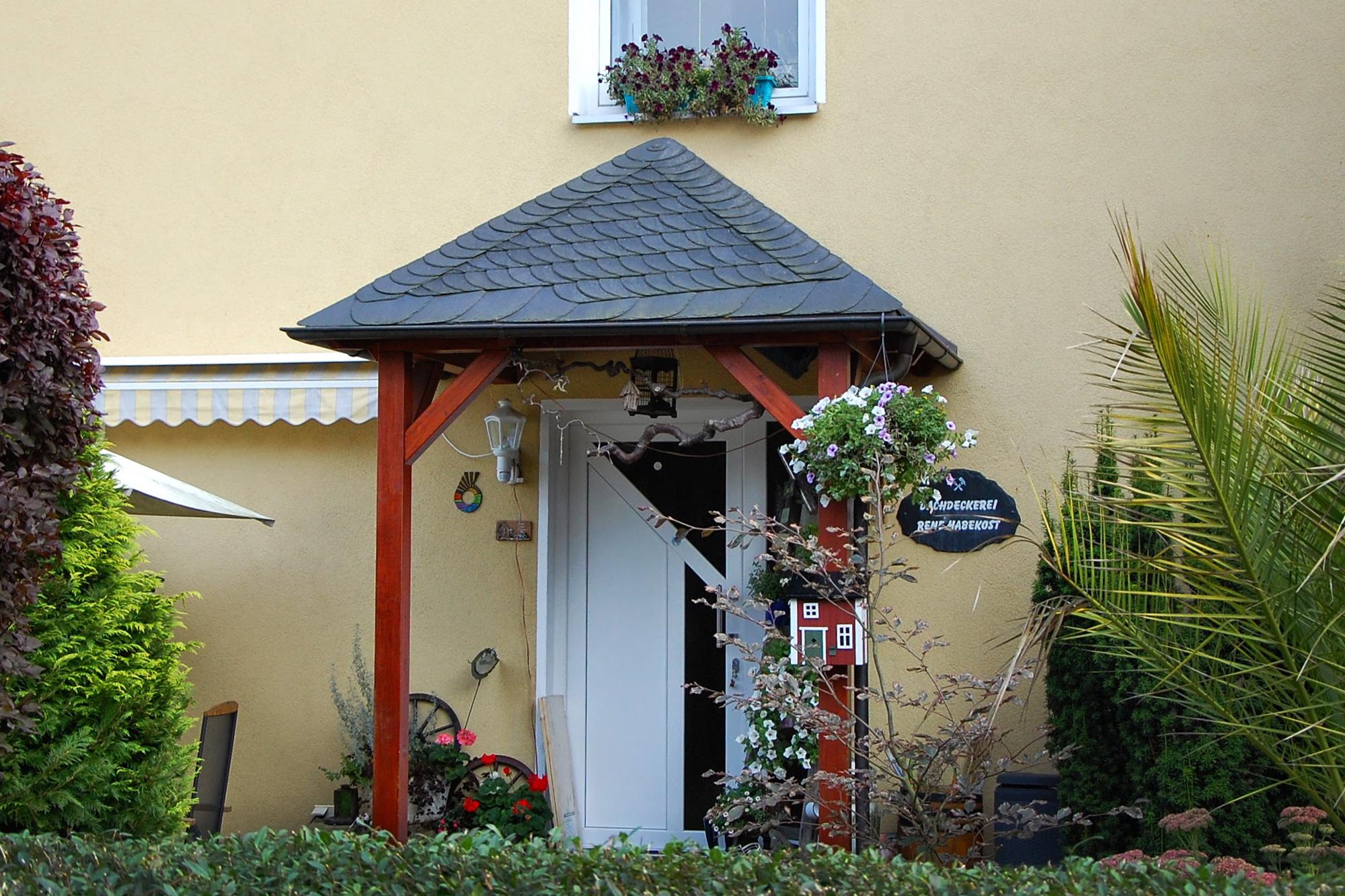 Naturschiefer, Holzarbeiten, Vorhaus komplett, Blankenberg, Saale-Orla-Kreis