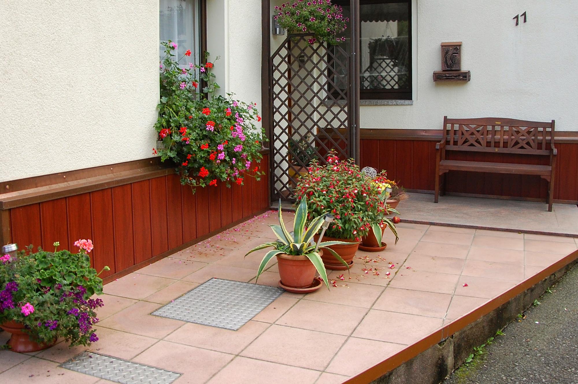 Blechprofile an Sockel und Fassade, Blankenberg, Saale-Orla-Kreis