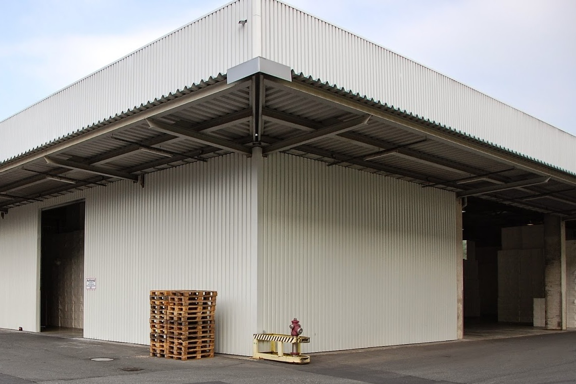 Stahltrapezblech, Industriefassade, Zellstoff- und Papierfabrik Blankenstein, Saale-Orla-Kreis