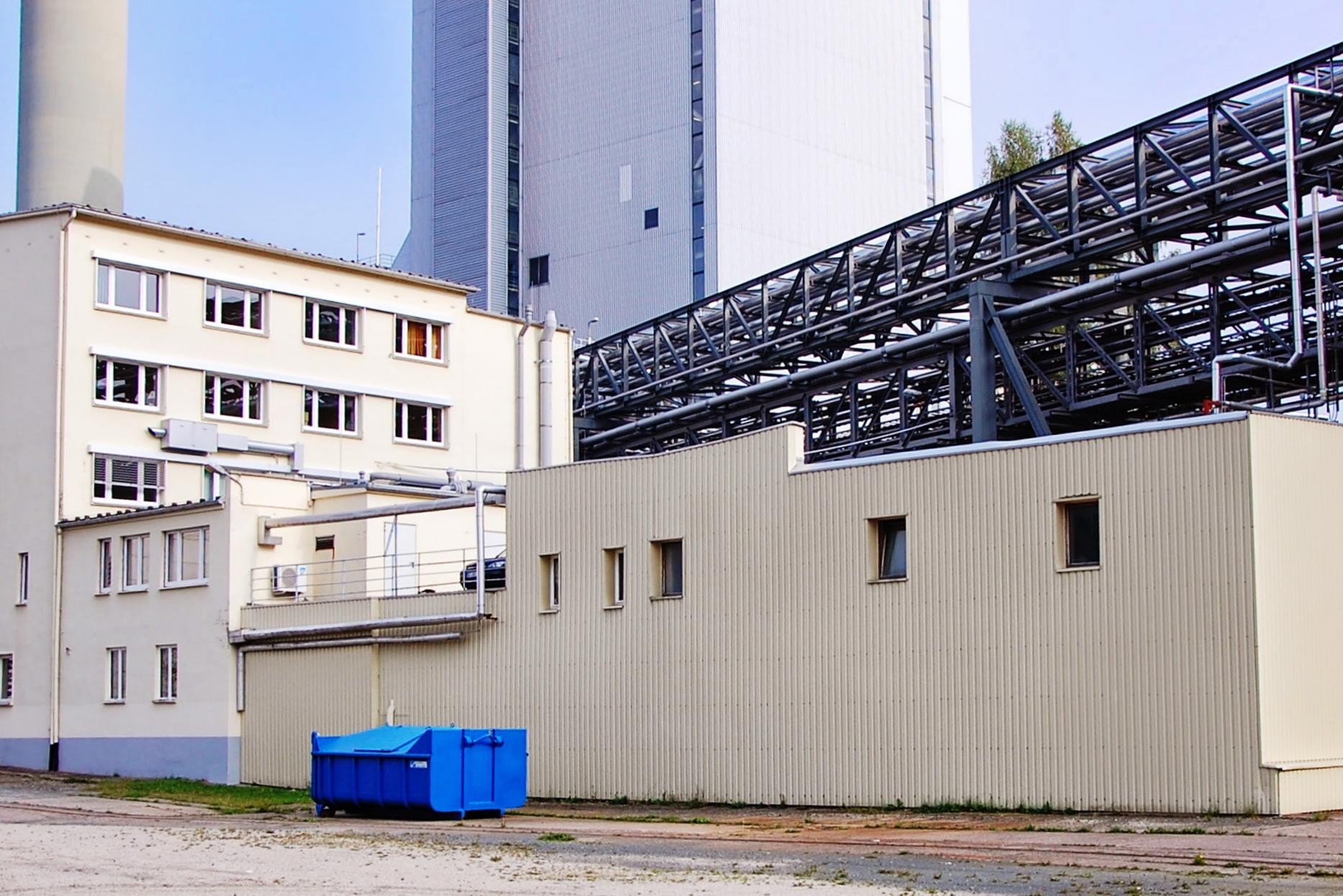 Blechfassade, Zellstoff- und Papierfabrik, Blankenstein, Saale-Orla-Kreis